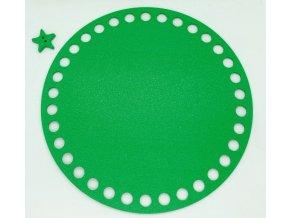 Plastové dno kruh 15cm, zelené