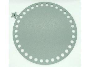 Plastové dno kruh 15cm, šedé