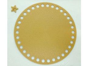 Plastové dno kruh 15cm, zlaté