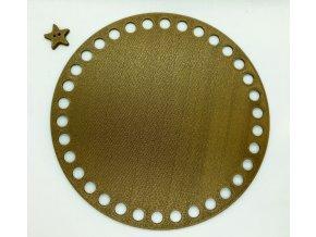 Plastové dno kruh 15cm, měděné