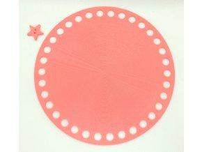 Plastové dno kruh 15cm, růžové