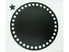 Plastové dno kruh 15cm, černé