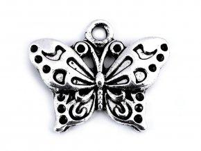 Přívěsek motýl 16x20 mm