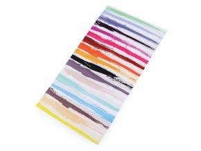 Multifunkční šátek pružný, bezešvý barevný