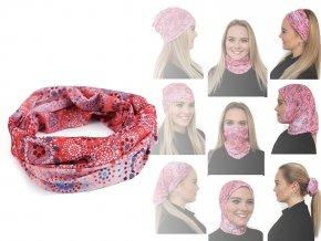 Multifunkční šátek pružný, bezešvý mandala