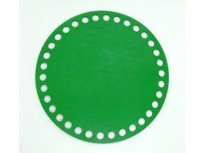 Dřevěný výřez kruh 15cm zelený