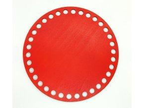 Dřevěný výřez kruh 15cm červený