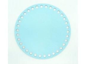 Dřevěný výřez kruh 15cm světle modrý
