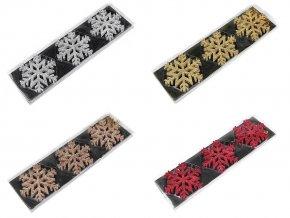 Vánoční vločka k zavěšení Ø10 cm v krabičce
