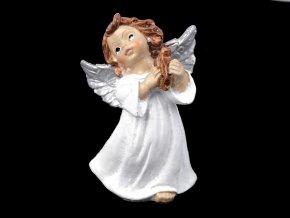 Dekorace anděl s jemnými glitry
