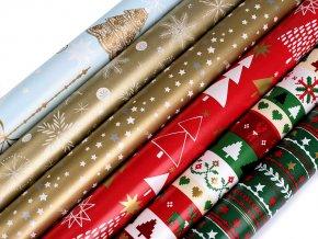 Vánoční balicí papír 0,7x2 m