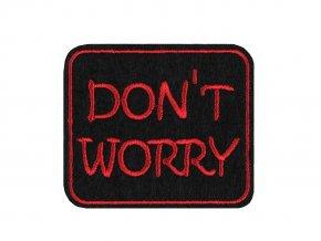 Nažehlovačka Dont worry, Be happy