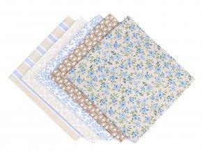 Sada látek na patchwork 48x50 cm