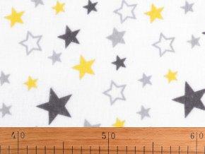 Bavlněný flanel hvězdy