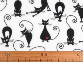 Bavlněný flanel kočky