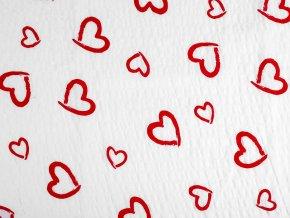 Bavlněný krep srdce