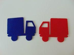 Výsek z filcu náklaďák červený