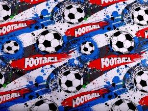 Bavlněná látka fotbal