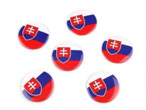 Placka - vlajka Slovenská republika Ø3,5 cm