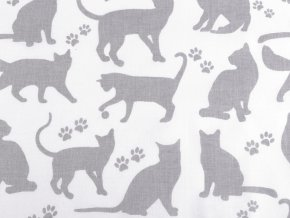 Plátno Šedé kočky na bílé