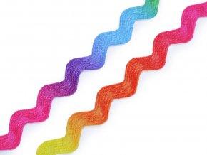 Prýmek / hadovka duhová šíře 6 mm