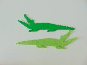Výsek z filcu krokodýl tmavší zelený