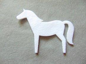 Výsek z filcu kůň bílý