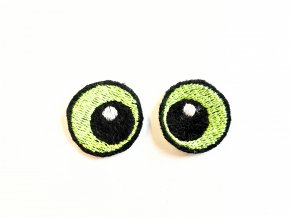 Vyšívané oči kulaté 2 cm světle zelené