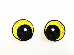 Vyšívané oči oválné 3 cm žluté