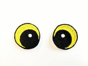 Vyšívané oči vypouklé 3 cm žluté