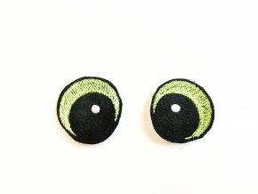 Vyšívané oči vypouklé 3 cm světle zelené