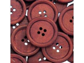 Knoflíky rezavé 30 mm 10 ks