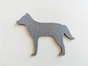 Výsek z filcu vlk šedý
