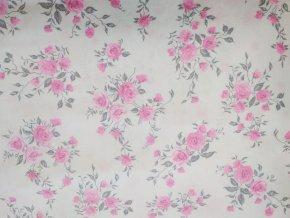 Plátno Růžové květy 2