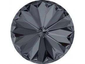Swarovski Rivoli 1122 12mm Crystal silver night