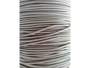 Kulatá guma šedá 2mm
