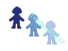 Výsek z filcu kluk středně modrý