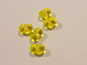 Farfalle malé žluté s bílým průtahem 159