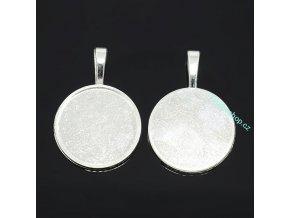 Lůžko kulaté stříbrné 25mm