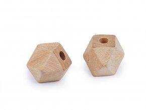 Dřevěné korálky nelakované 12x12 mm