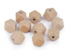 Dřevěné korálky nelakované 15x15 mm