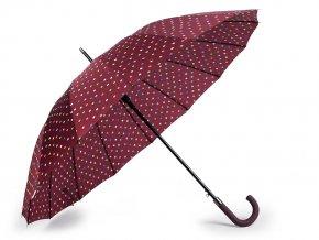 Velký rodinný deštník s puntíky