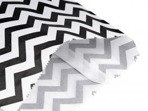 Papírový sáček chevron 15x22,5 cm