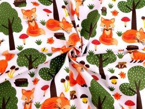 Bavlněná látka liška