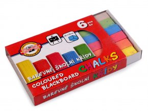 Školní křídy barevné 6 ks