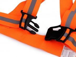 Reflexní elastické šle pro dospělé šíře 4 cm