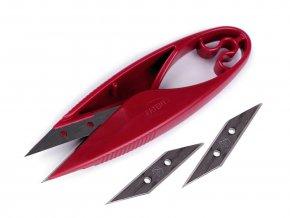 Nůžky PIN cvakačky velmi ostré s náhradním ostřím délka 11 cm