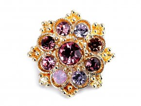 Malá brož květ s broušenými kamínky