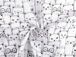 Bavlněná plenkovina kočky