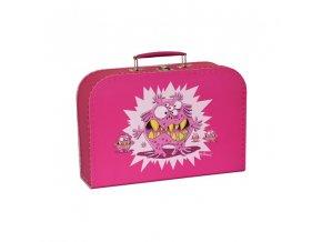 Kufřík s příšerou růžový střední
